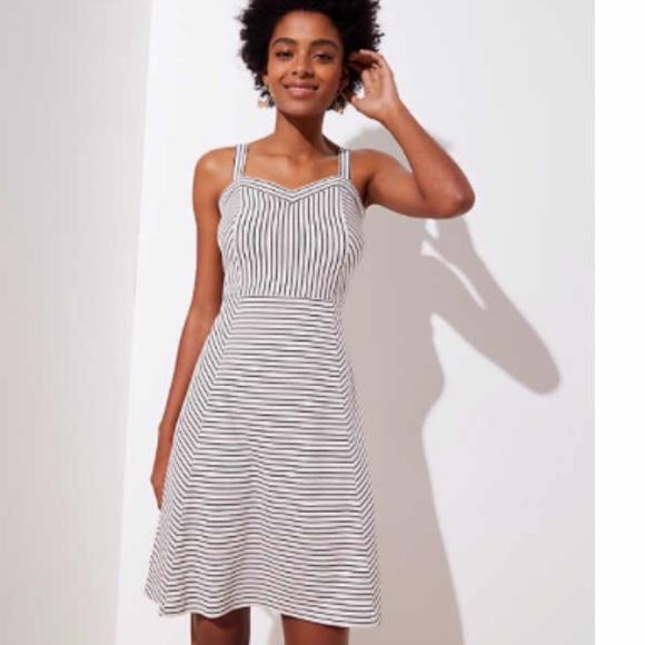 LOFT Dresses & Skirts - Loft Strappy stripped dress